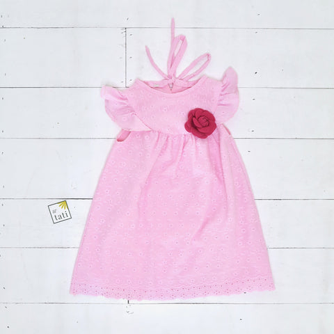 Rosemary Dress in Pink Eyelet-Lil' Tati