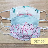 Eco Friendly - Washable Cotton Face Mask for Adults | Set of 3 - Lil' Tati