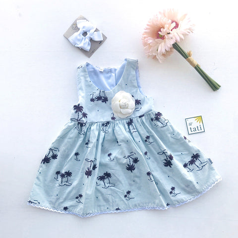 Iris Dress in Islets Print-Lil' Tati