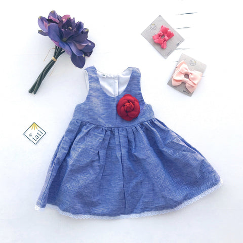 Iris Dress in Purple Gingham - Lil' Tati