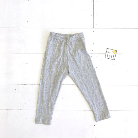 Cotton Stretch Leggings - Gray-Lil' Tati
