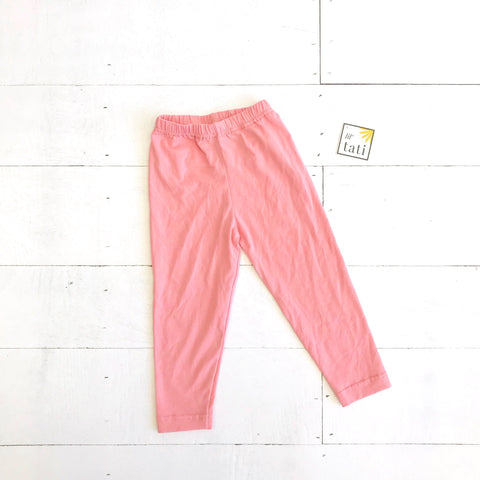 Cotton Stretch Leggings - Pink-Lil' Tati