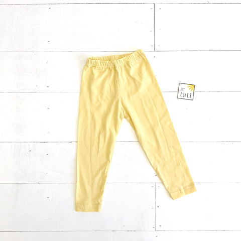 Cotton Stretch Leggings - Yellow - Lil' Tati