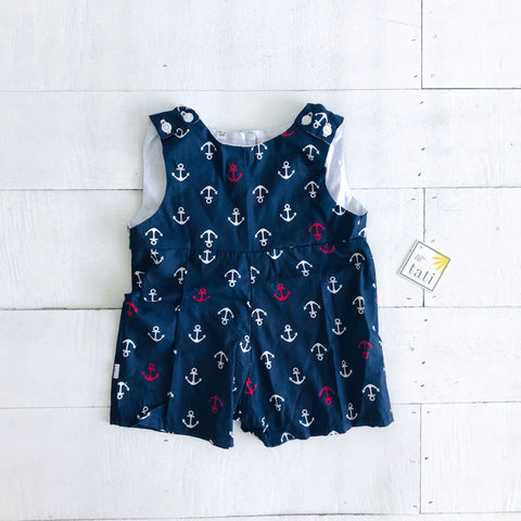 Oak Playsuit in Anchors Away Blue-Lil' Tati