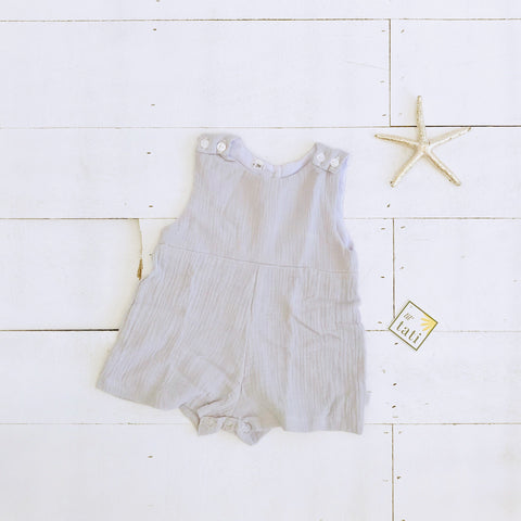 Oak Playsuit in Crepe - Light Gray-Lil' Tati