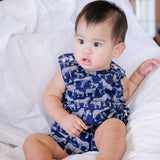 Oak Playsuit in Blue Linen-Lil' Tati