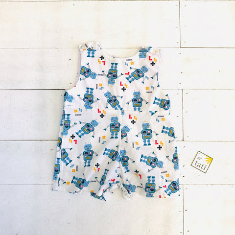 Oak Playsuit in Mr. Robot Print - Lil' Tati