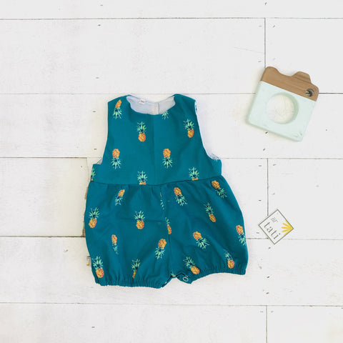 Orchid Playsuit in Bluegreen Pineapple - Lil' Tati
