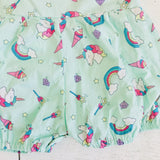 Orchid Playsuit - Ruffle Sleeves in Unicorns and Rainbows Print-Lil' Tati