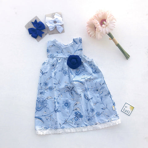 Peony Dress in Angelic Flowers - Lil' Tati