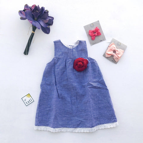 Peony Dress in Purple Gingham - Lil' Tati