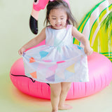 Poppy Dress in Artsy Apple Magenta Print - Lil' Tati