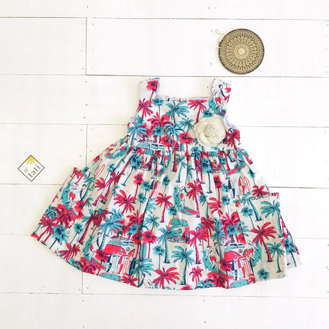 Poppy Dress in Beach Dude Print - Lil' Tati
