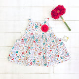 Poppy Dress in Into the Garden Print - Lil' Tati