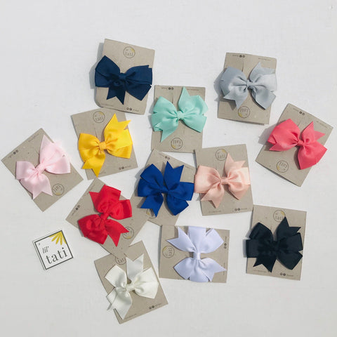 Prime Flower Bow Hair Clips-Lil' Tati