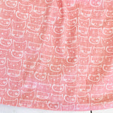 Tea Rose Dress in Cat Stamp Pink Print - Lil' Tati