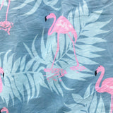 Tea Rose Dress in Summer Flamingo Blue Print-Lil' Tati