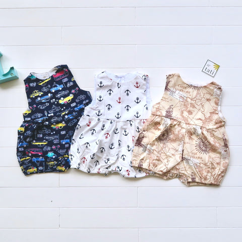Orchid Playsuit for 3 Months | Set of 3