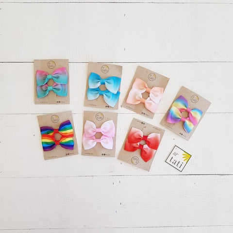 Rainbow Hair Clips-Lil' Tati