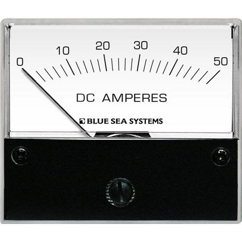 Blue Sea 8022 DC Analog Ammeter - 2-3/4 Face 0-50 Amperes DC
