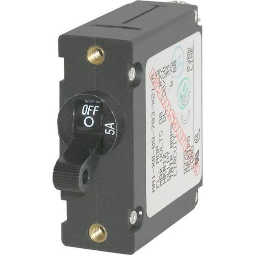 Blue Sea 7200 AC / DC Single Pole Magnetic World Circuit Breaker - 5 Amp