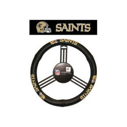 New Orleans Saints Steering Wheel Cover - Leather