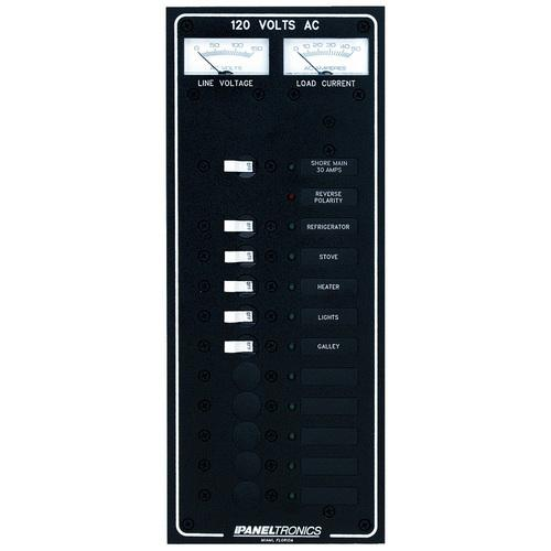Paneltronics Standard AC 10 Position Breaker Panel & Main w/LED