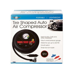 Portable Tire-Shaped Auto Air Compressor ( Case of 4 )