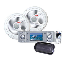 AM/FM-MPX In-Dash Marine CD/MP3 Player w/Full Face Detachable Panel