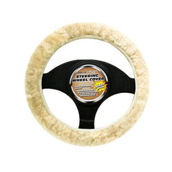 Simulated Sheep Skin Steering Wheel Cover ( Case of 4 )