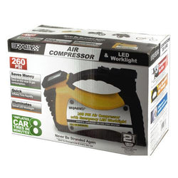 Rally Auto Air Compressor & LED Worklight ( Case of 1 )