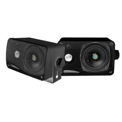 3.5'' 200 Watt 3-Way Weather Proof Mini Box Speaker System (Black)
