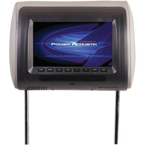 "Power Acoustik H-71CC Universal Headrest Monitor with IR Transmitter & 3 Interchangeable Skins (7"")"