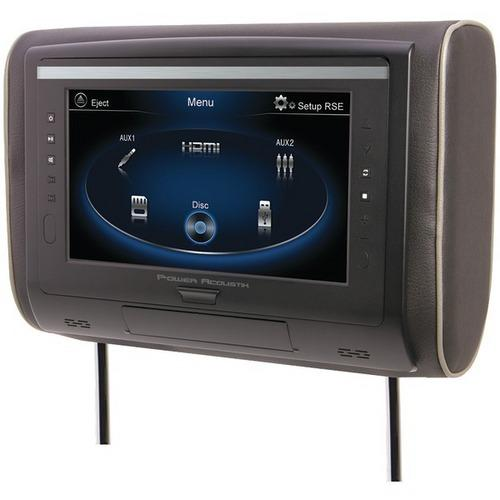 "Power Acoustik HDVD-94 9"" LCD Universal Headrest with IR & FM Transmitters & 3 Interchangeable Skins (DVD Player)"