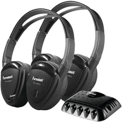 Power Acoustik 2 Sets Of Single-channel Ir Wireless Headphones With Transmitter (pack of 1 Ea)