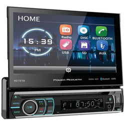 "Power Acoustik 7"" Incite Single-din In-dash Motorized Touchscreen Lcd Dvd Receiver With Detachable Face & Bluetooth (pack of 1 Ea)"