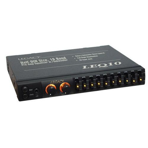 10 Band Pre-Amp Equalizer w/Subwoofer Boost Control