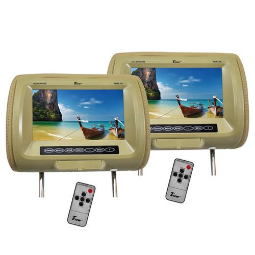 "Tview 9"" TFT Monitor in Headrest Tan"