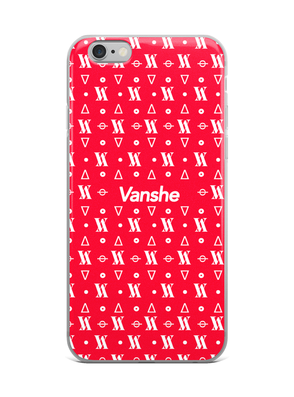 Vanshe Red Monogram - Samsung & iPhone Case