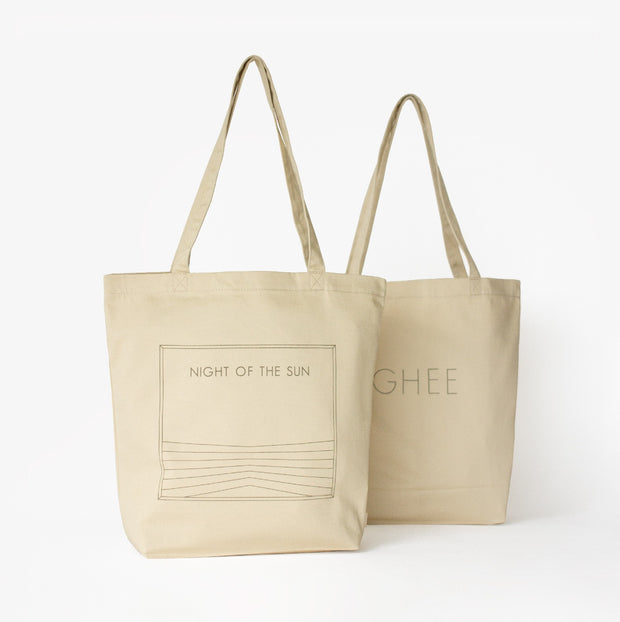 "Night of the Sun | Organic Cotton ""Ghee"" Tote Bag"