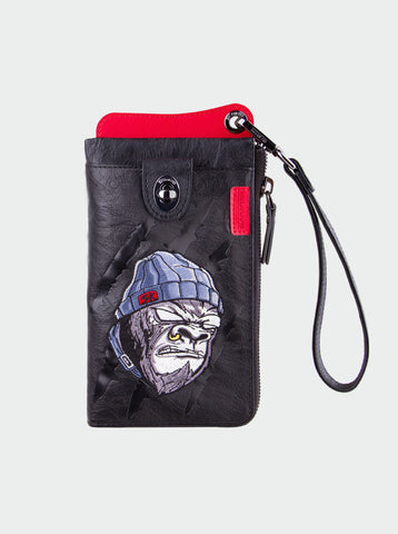 TRAVEL WALLET, KEMONO SARU WHITE