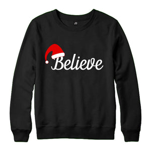 """Believe"" Unisex Christmas Sweatshirt"