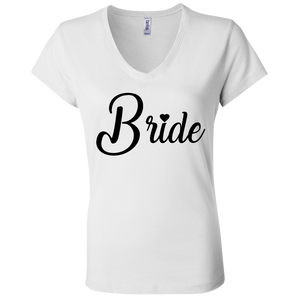 Bride with Black Lettering Ladies Tee