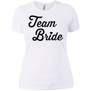 Team Bride Tee Black Logo