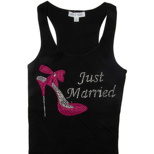Just Married Rhinestone Tank
