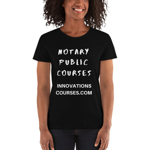NOTARY COURSES TEE WHITE LETTERS