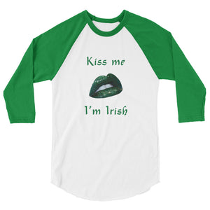 Kiss Me I'm Irish Raglan Tap