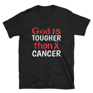 God Is Tougher Than Cancer Red Ribbon