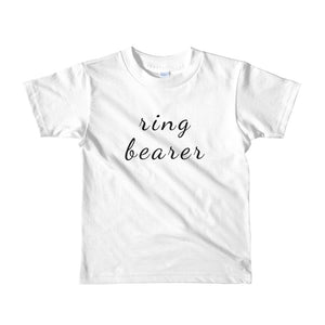 Ring Bearer Short sleeve kids t-shirt