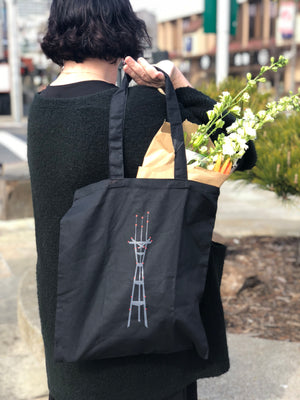 Sutro Tower at Night Tote Bag